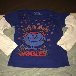 Little Miss size Med. long sleeve top.
